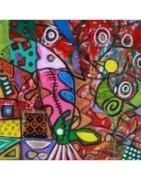 Colorful, tableaux énergétiques, artiste peintre Liya, joie de vivre